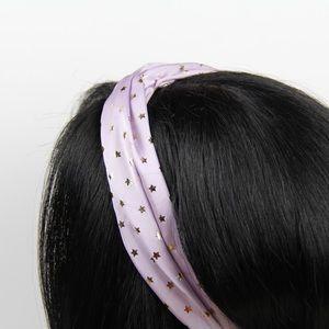 Accessories - Purple with Gold Stars Headband